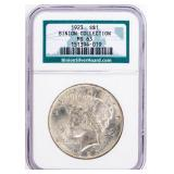 Coin 1923 Peace Silver Dollar NGC Binion Silver