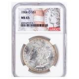 Coin 1904-O  Morgan Silver Dollar NGC MS63