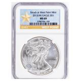 Coin 2013-W  American Silver Eagle NGC MS69