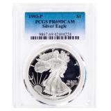 Coin 1993-P American Silver Eagle PCGS PR69DCAM