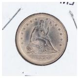 Coin 1875 Liberty Seated Quarter in AU