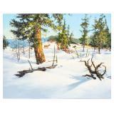 Art Original Oil Winter Sun