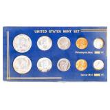 Coin 1964 P & D Mint Set in Plastic Display