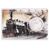 """Coin 1887  Morgan Silver Dollar """"Railroad Silver $"""