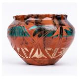 Signed Navajo Horsehair Pottery  S. Smith