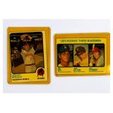 Lot of 2 Vintage 1973 Topps Baseball Cards