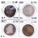 Coin 4 United States Bust Hafl Dollars