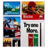 Lot of 6 Vintage Cigarette Advertising Signs