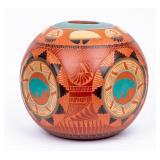 Signed Navajo Large Buffalo Jar Tony A. Yazzie