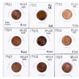 Coin 9 High Grade Indian Cents