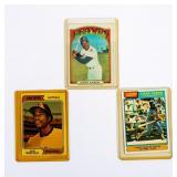 Lot of 3 Vintage Topps Baseball Cards