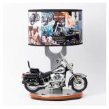 Contempory Harley Davidson Motorcycle Lamp