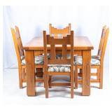 Furniture Southwestern Style Table & 4 Chairs