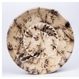 Signed Navajo Large Horsehair Plate  S. Smith