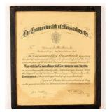 Certificate Recognition of Service WWI