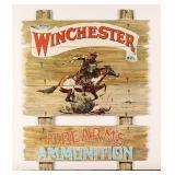 Cardboard Winchester Ammunition Advertisement