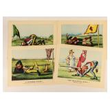 Four Vintage Currier and Ives Colored Prints