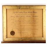 Framed Certificate Promotion to Aide-de-Camp 1885