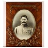 Framed Illustration French Soldier Circa WWI