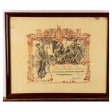 Framed Certificate British Honorable Discharge