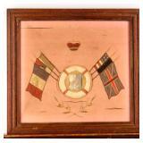 Framed Photograph World War I Soldiers