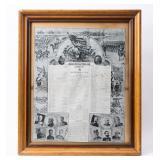 Framed Certificate Company M Spanish-American
