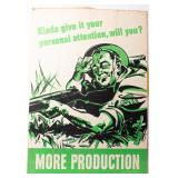 Poster More Production WWII Green