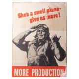 Poster More Production WWII Red