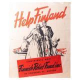 Poster Finland Relief Fund