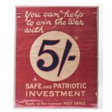 Poster British War investment WWI