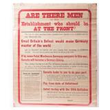 Poster World War One Canadian Enlistment Ad