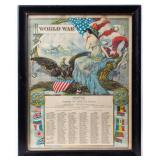 Framed Certificate Honoring WWI Company