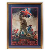 Framed Poster British War Relief Society WWI