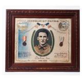 Framed Certificate Prisoner of War / Service WWII