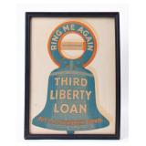 Framed Advertisement US Government Bonds