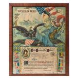 Framed Certificate Enlisting WWI William Knoop