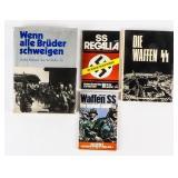 Lot of Nazi Germany Waffen SS Books