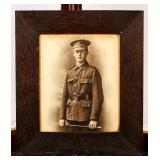 Framed Photograph of a Uniformed Soldier