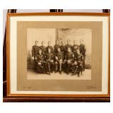 Framed Photograph Soldiers Circa 1875 - 1910