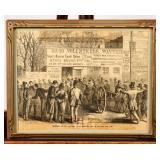 Framed Illustration Civil War Recruitment