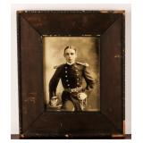 Framed Photograph of German Soldier Late 1800s