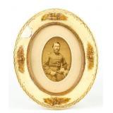 Framed Photograph Uniformed Soldier 19 Century