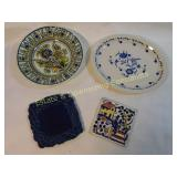 4 Piece Ceramic Lot, Nantucket