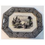 TJ & J Mayer Rhone Antique Tansferware Platter