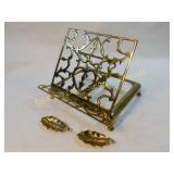 Vintage Brass Book Stand Easel