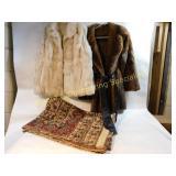 2 Fine Furs Coats & Tapestry