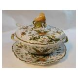 Italian Ceramic Tureen, Ladle, Serving Platter