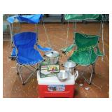 Cooler Coleman Airbed Camp Chairs Cookpot +