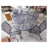 Wire Frame Outdoor Table & 4 Chairs