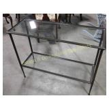 Two Tier Glass Outdoor Table or Plant Stand